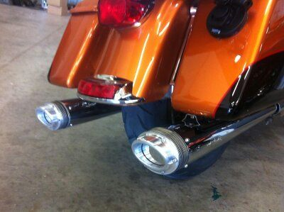 E-Series exhaust on Harley Davidson FLH