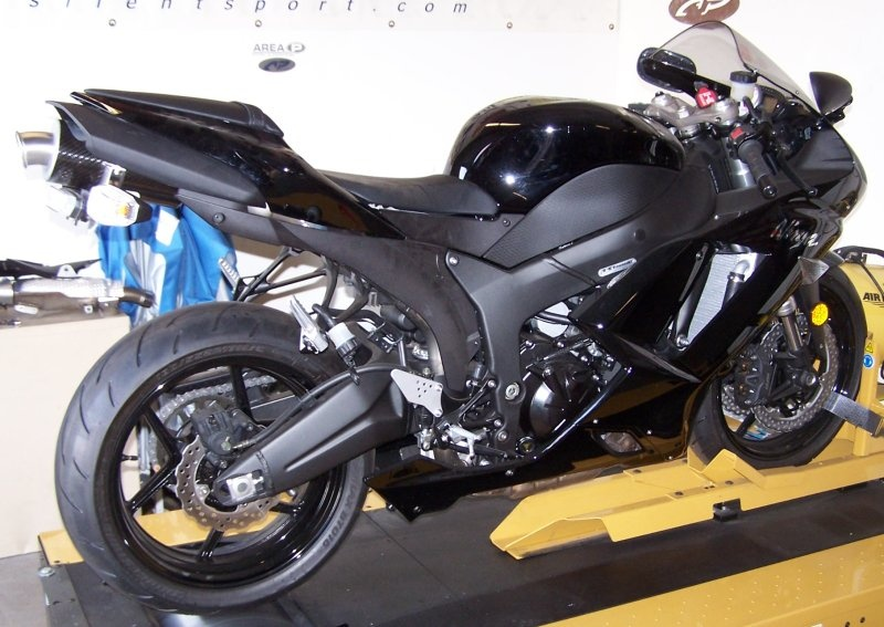 kawasaki zx 6r slip on exhaust full system area p no. Black Bedroom Furniture Sets. Home Design Ideas